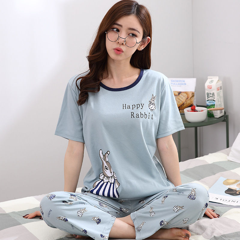 Pajamas     Sets   for Women Short sleeved tops+long pants Sleepwear Suit 2 Piece Sexy ladies Home wear Woman Gift 2018 autumn