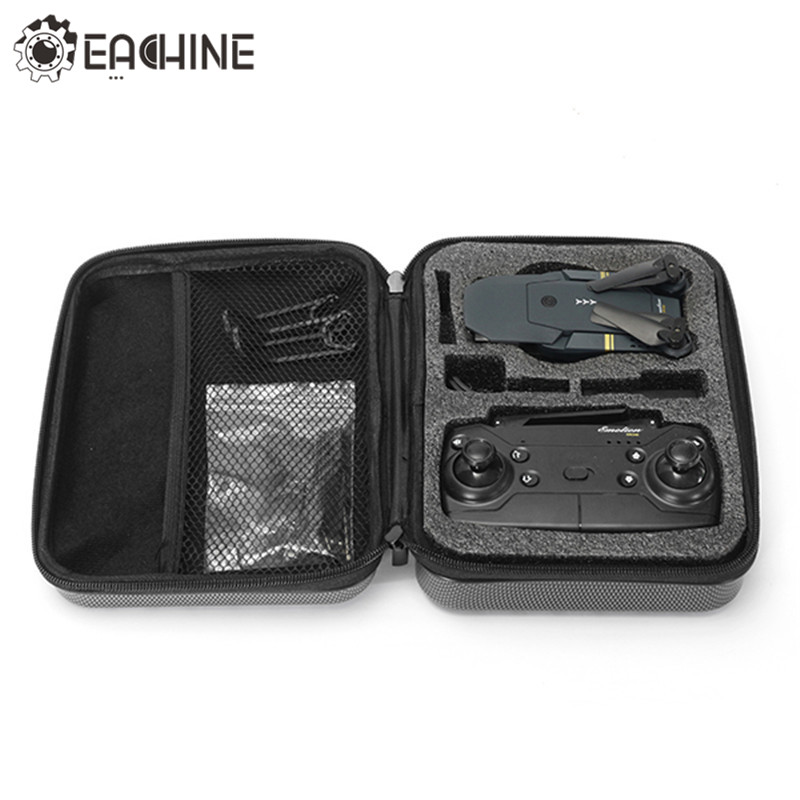 Hard Shell Waterproof Carrying Case Storage Box Handbag for Eachine E58 RC Drone Quadcopter Spare Parts FPV Racing Drone Accs rubberized hard shell case w ribbed design holster