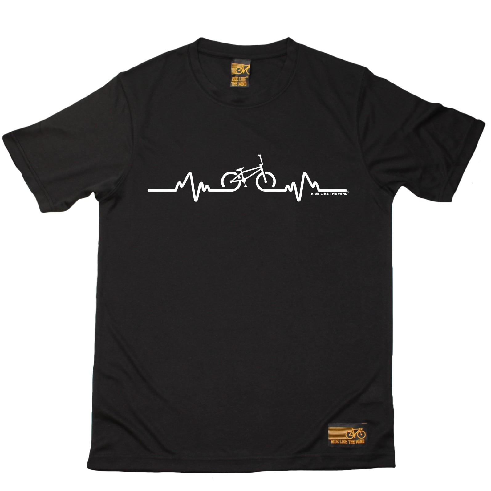 Bicycle BMX Pulse - Breathable Sportser T-SHIRT Cyclinger Birthday Gift Present Biker Short Sleeve O-Neck Cotton T Shirt