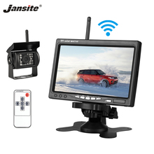 Jansite 7-inch TFT LCD Wireless Car Rearview Monitor HD Display camera Reverse Assistance Camera Parking System with Rear camera цена 2017