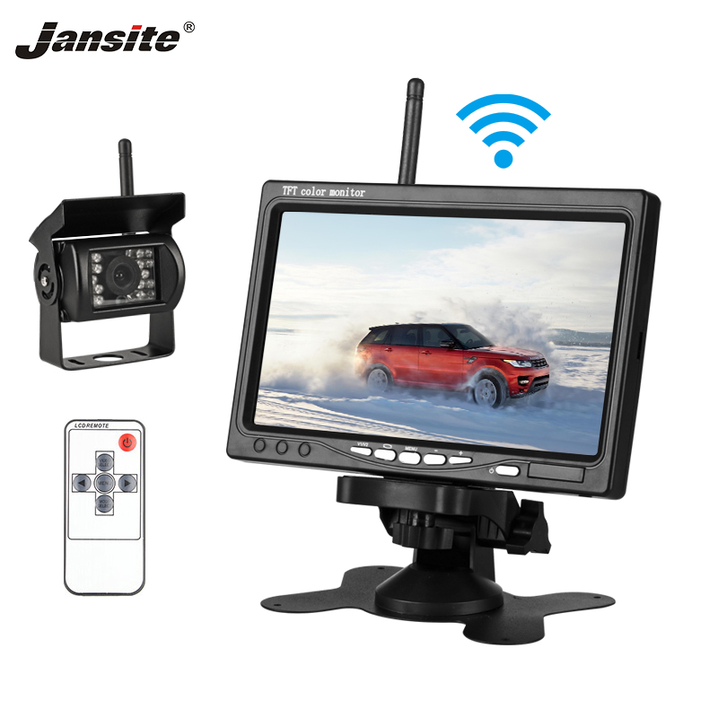 Jansite 7inches TFT LCD Wireless Car Rearview Monitor HD Display camera Reverse Assistance Camera Paking System with Rear cameraJansite 7inches TFT LCD Wireless Car Rearview Monitor HD Display camera Reverse Assistance Camera Paking System with Rear camera