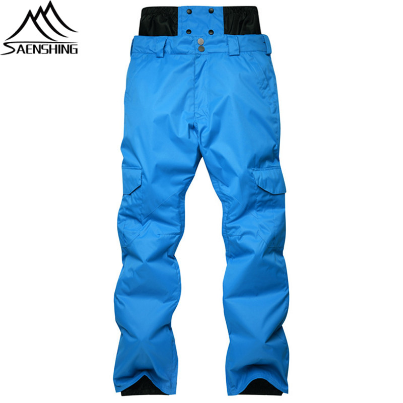 New Snowboard Pants Men Winter Snow Ski High Waist Pants Waterproof Thicken Cotton Pad Outdoor Trousers Male Snowboarding Pant