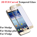 For S7edge S6 Edge Screen Protector 3D Curved Full Cover Toughened Tempered Glass For Samsung Galaxy S7edge S6 edge S6edge plus