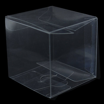 8*8*8cm Clear PVC Plastic Cube Gift Packaging Box Party Wedding Favor Sweet Chocolate Cupcake Candy Pack Jewelry Display Boxes