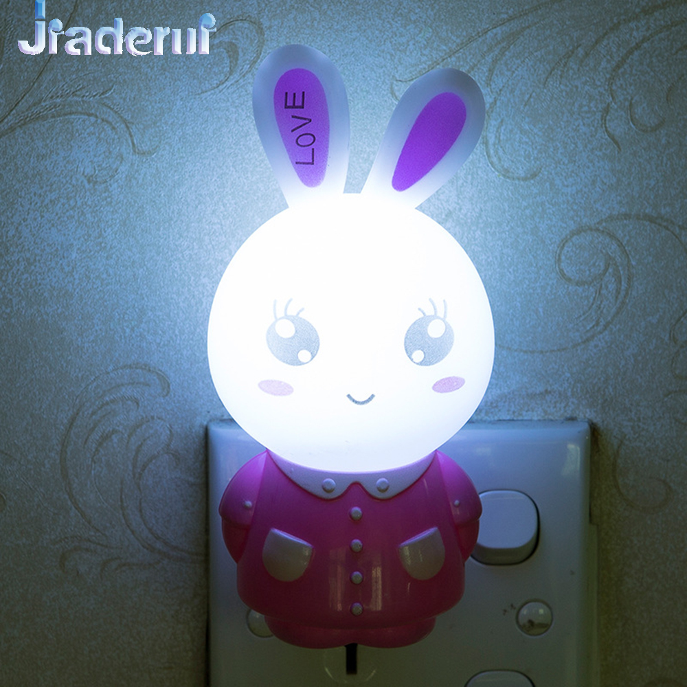 Jiaderui милые Животные свет энергосберегающих Ночные светильники Сенсор огни Спальня стены прикроватные Лампы для мотоциклов для детей Новый...