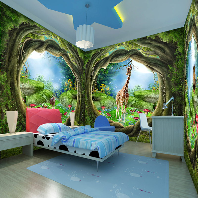 Large Custom Wall Mural Wallpaper 3d Stereoscopic Fantasy