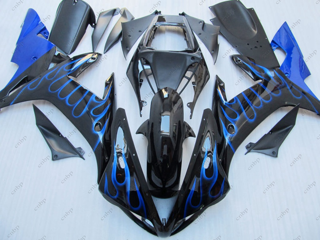 Fairing Kits YZF R1 2003 Bodywork YZF1000 R1 02 2002 - 2003 Black Blue Flame Plastic Fairings for YAMAHA YZFR1 02 free shipping blue white black aftermarket oem fitment kits for yamaha r1 2002