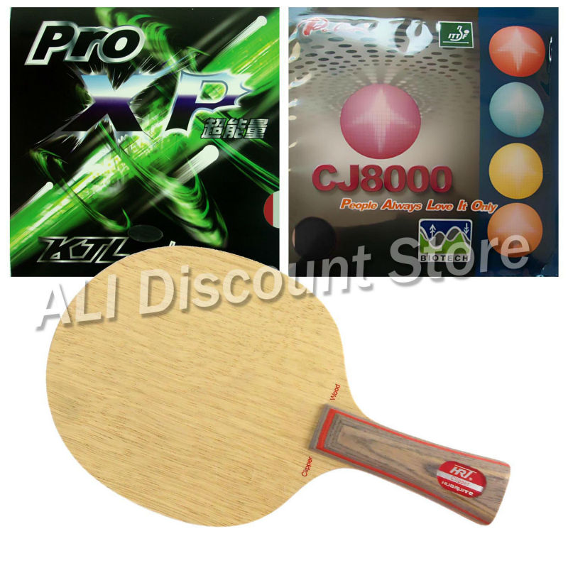 HRT 2091 Blade with KTL Pro XP and Palio CJ8000 BIOTECH Rubbers for a Table Tennis Combo Racket FL palio tct table tennis blade with 2x cj8000 biotech rubber with sponge h40 42 for a ping pong racket