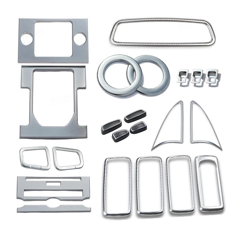 Accessories Car Interior Whole Set Interior Cover Trim 22pcs For Land Rover LR4 Discovery 4 2010 2011 2012 2013 2014 2015 все цены