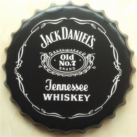 JACK DANIEL'S Large Beer Cover Tin Sign Logo Plaque Vintage Metal Painting Wall Sticker Iron Sign Bar KTV Store Decorative