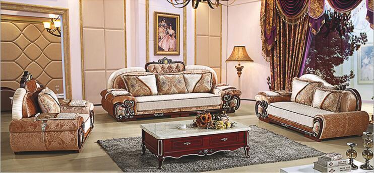 living room furniture modern fabric sofa European sectional sofa set a1272