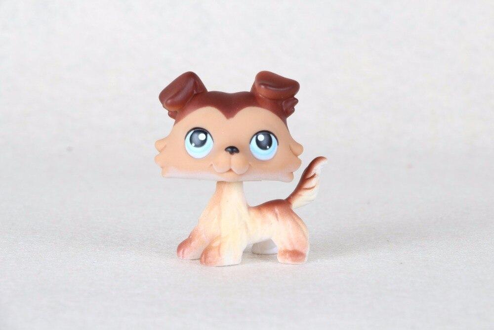 สัตว์เลี้ยงใหม่เดิมแท้LPS #58สีน้ำตาลแกะสุนัขลูกสุนัขดวงตาสีฟ้าLPSของเล่นเด็ก