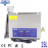 JIETAI Digital 15L 360W Ultrasonic Cleaner Heater Timer Solution Industrial Parts Lab Medical Tools Stainless Cleaning Machine