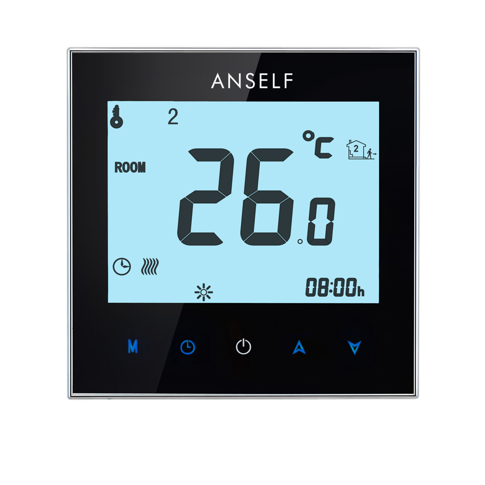 Floureon Byc17gh3 Lcd Touch Screen Room Underfloor Heating Oil Heat Thermostat Wiring Thermoregulator Weather Station Thermocouple Warm Floor Electric System Temperature Controller
