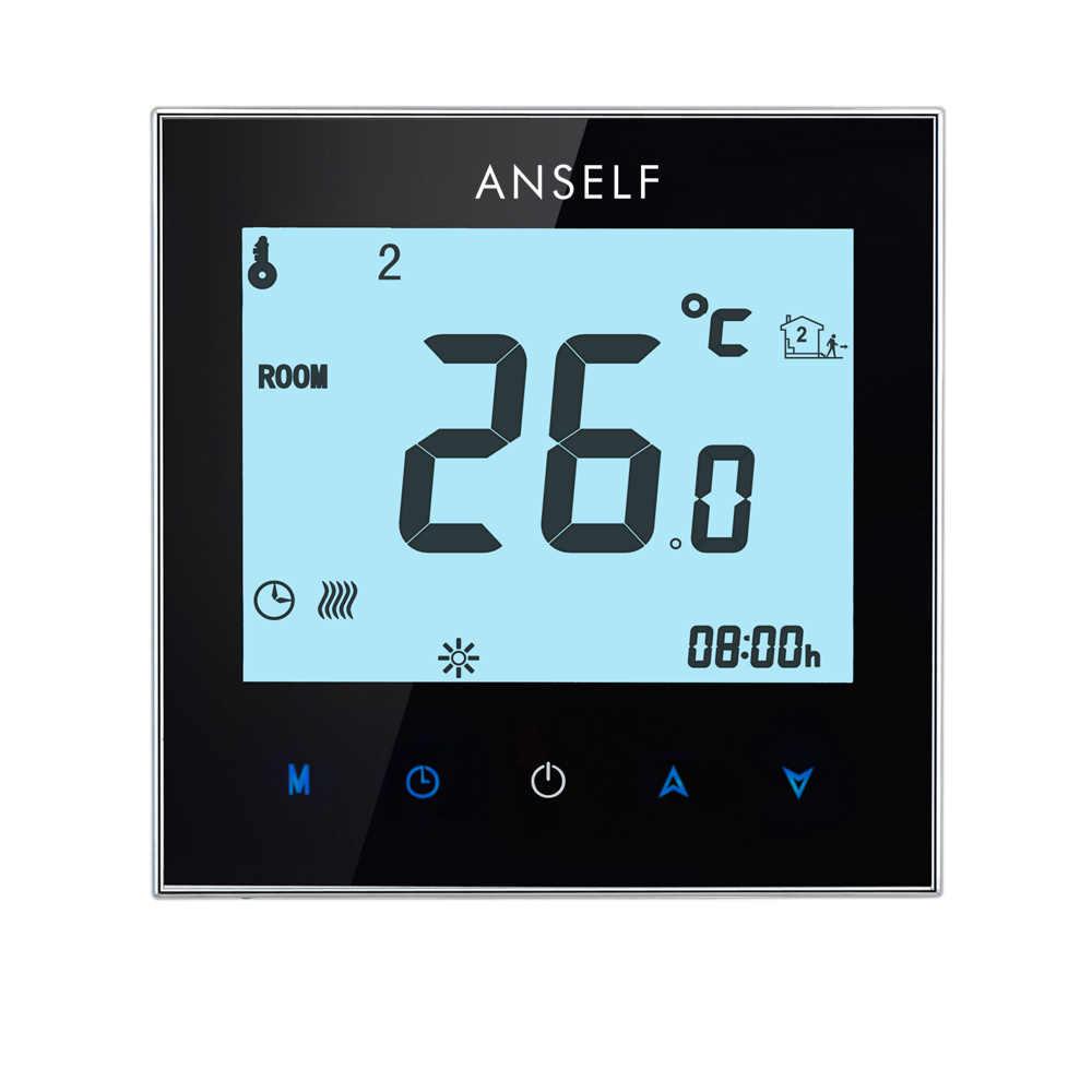 Thermorégulateur écran tactile Station météo Thermostat Thermocouple plancher chaud système de chauffage électrique régulateur de température