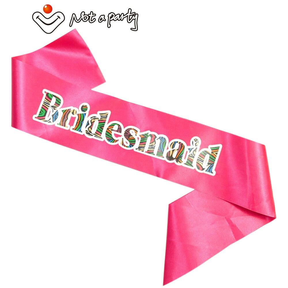 6pcs red wedding event bachelorette party sash Hen nights bridal ...