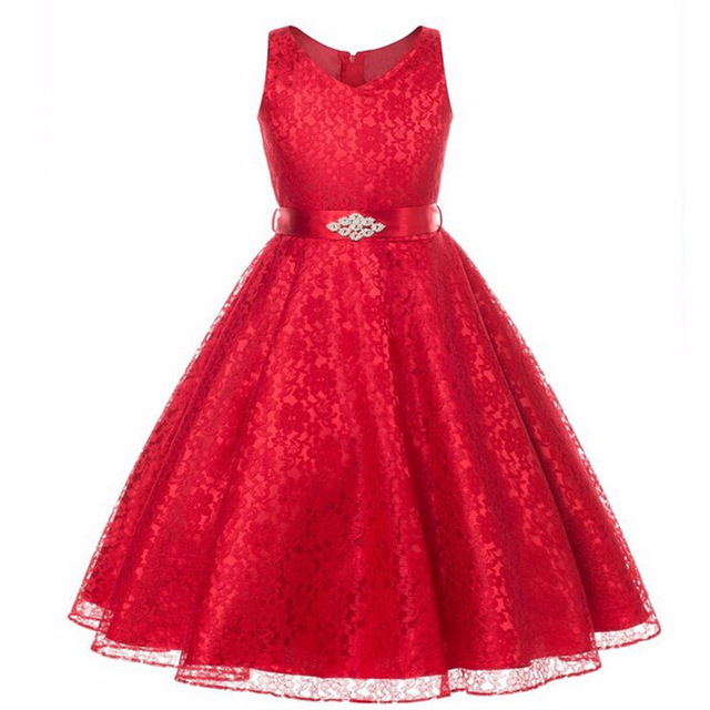 2017 New Year S Dress Fashion Children Beautiful Party Long Ball Gown Bride Sleeveless One