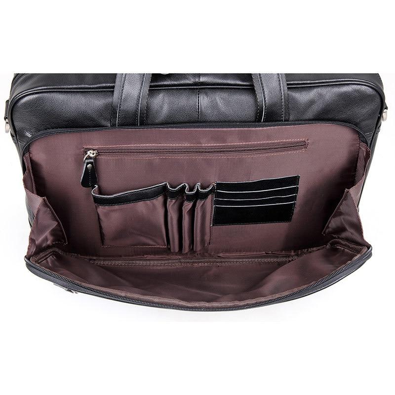 مكتب nesitu الأسود حقيقية جلد الرجال حقيبة رسول حقيبة سفر الأعمال 14 '/15.6'/17 'محمول محفظة M7367-في حقائب جلدية من حقائب وأمتعة على  مجموعة 3