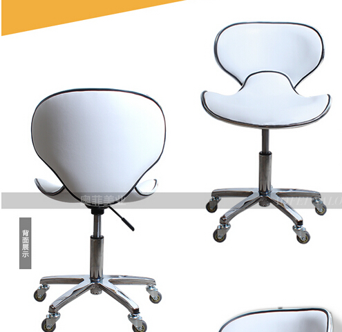 Creative bar chair. Beauty salon pulley stool. Swivel chair master chair. Technician chair. continental bar chairs rotating chair lift back bar stool reception tall silver beauty makeup chair