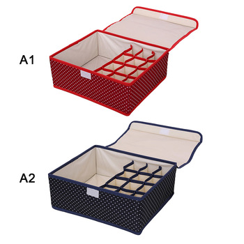 18 Gird Drawer Closet Organizers Boxes For Underwear Bra Home Storage Non-woven Scarfs Socks Bra Organizer Storage Box