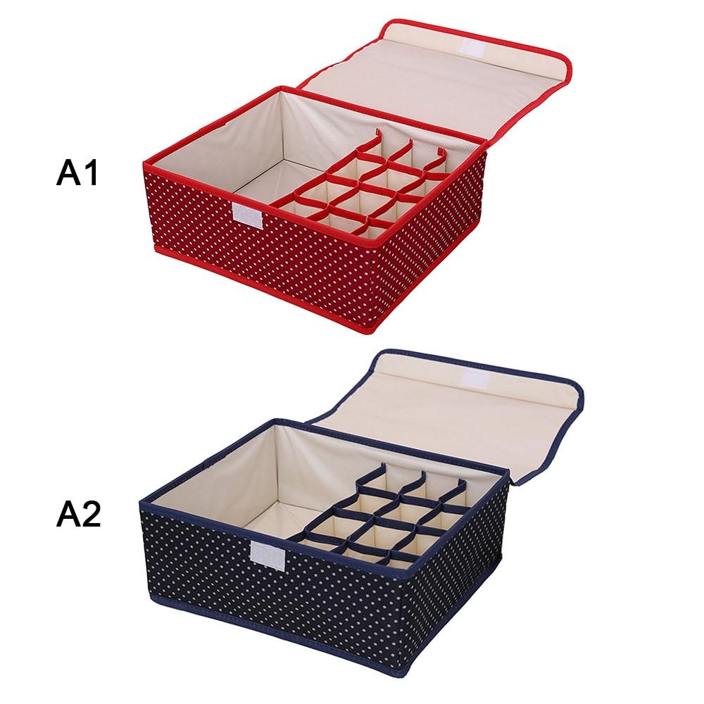 boxes:  18 Gird Drawer Closet Organizers Boxes For Underwear Bra Home Storage Non-woven Scarfs Socks Bra Organizer Storage Box - Martin's & Co