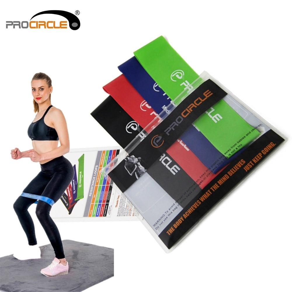 PROCIRCLE сопротивление группы set 4 уровня доступна латекс тренажерный зал силовых тренировок резинки Фитнес оборудования