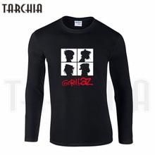 1b787d10 TARCHIA Free Shipping Famous Band Gorillaz Print Men's Long Sleeve Homme  Cool T-Shirt Cotton
