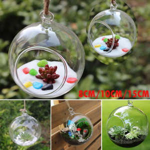 faroot Ball Glass Hanging Plant Vase Home Decoration