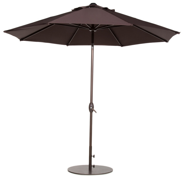 abba patio 9 feet patio umbrella with auto tilt and crank chocolate 9 Foot Umbrella Base