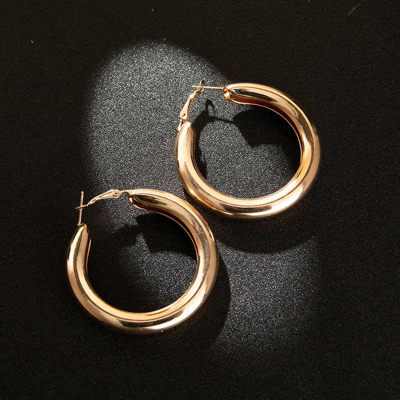 Hot sell euramerican adorn article fashionable gold silver ring individual character hollow out earring