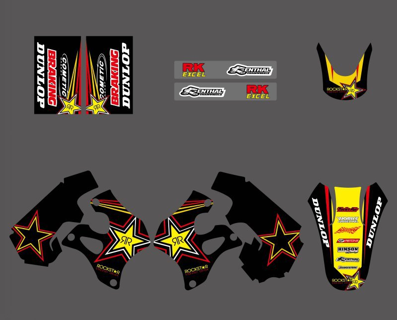 H2CNC Graphics Background Decal Sticker For Suzuki RM125 RM250 1996 1997 1998 RM 125 250