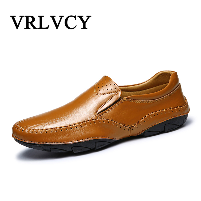 Men Casual Shoes Men Fashion Brand Loafers Spring Autumn Moccasins Men Genuine Leather Shoes Men'S Flats Shoes spring autumn genuine leather men flat shoes fashion leather shoes men s flats moccasins casual loafers man driving shoes