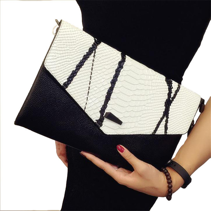 2019 Fashion Women Messenger Bags Lady Envelope Bag Clutches With Chains Leather Clutch Purse Free Shipping