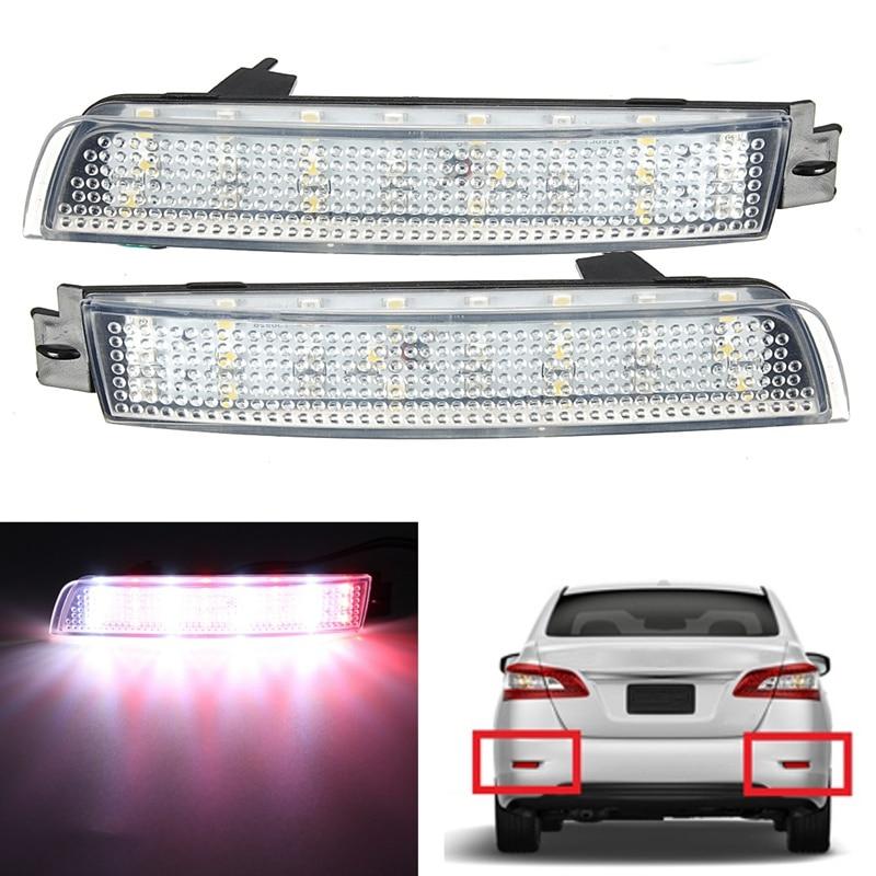 Car LED Light Parking Tail Brake Rear Bumper Reflector Lamp For Nissan/Juke/Murano/Infinit/FX35/FX37/FX50 Red Fog Stop Lights
