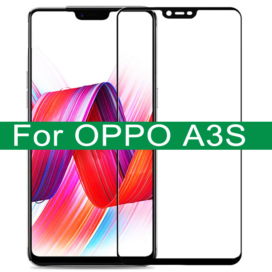 Tempered Glass On For OPPO A3S Protective Glass For OPPO A5S A5 A9 Full Cover Screen Protector For OPPO A 3S 5S Protective Film 1