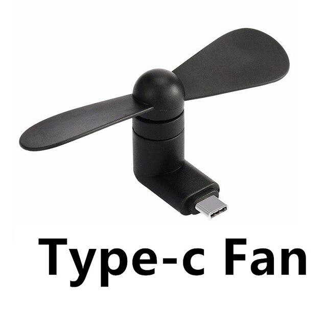 Typ c Flexible Mini Kühle Hand Fans für Xiaomi 4c 5 5 s 6 Huawei P9 P10 Weichen Typ C Jack Schnittstelle Handy Fan Rollenmaschinenlinie Typc