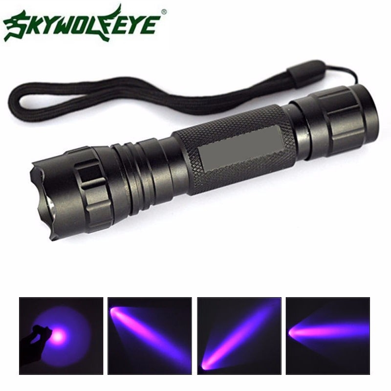 JA 13 Shining Hot Selling Fast Shipping Outdoor UV WF-501B LED 365NM Ultra Violet Blacklight Flashlight Torch 18650 Light Lamp wf 501b led flashlight 375nm uv ultra blue violet blacklight waterproof torch lamp 18650