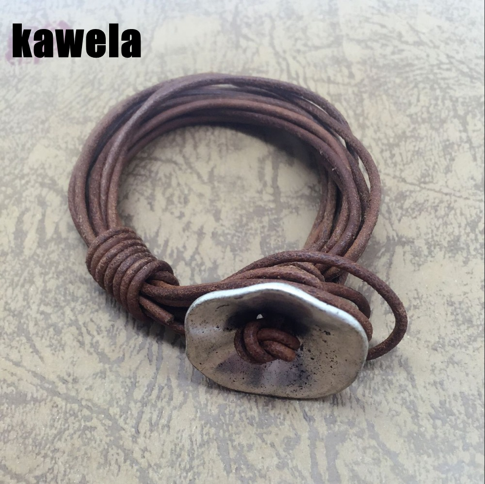 Free Shipping Wholesale Petunia Charm Brown Leather Special Bracelet