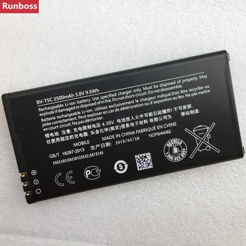 100% New Original Real 2500mAh 9.5Wh BV-T5C / BV T5C BVT5C Replacement Battery For Nokia Microsoft Lumia 640 Lumia640 RM-1073