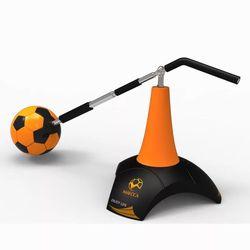 MAICCA Entrenamiento de fútbol para entrenamiento de fútbol profesional, control de bola, asistencia de tiro, conjunto de acero, equipo de ejercicio giratorio