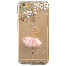 Bling Rhinestone Diamond Crystal Glitter Bling Case Cover Shell Phone Case for Iphone4s 5s 5c 6/6 plus 7/7 plus case(dancer)