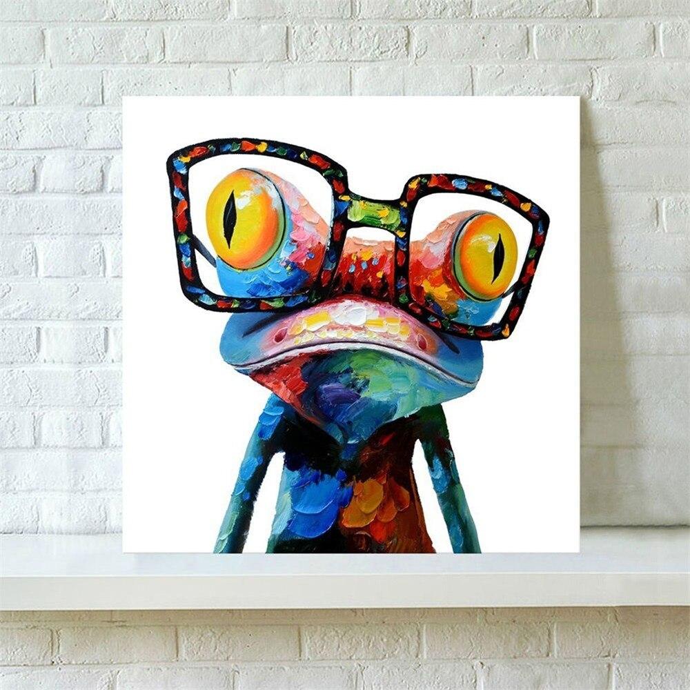 Auf Leinwand Nicht Gerahmte Brille Frosch Moderne Abstrakte Riesige ...