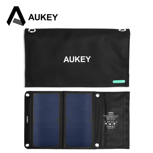 chargeur solaire aukey