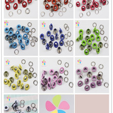 Краски металлическое ушко для Скрапбукинг DIY Кольца для одежды аксессуары(12 компл./лот) G1302