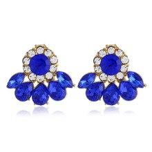 где купить New Arrival 2019 Luxury Designer Jewelry Stud Earrings For Women Accessories Zincon Blue Crystal Earrings Set Wholesale по лучшей цене