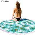 Bohemian Style Beach Towel Cover Up Round Hippie Tapestry Beach Throw Roundie Mandala Towel Yoga Mat Wraps Free Shipping,Jan 9