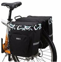 30L Double Side Bike Rear Bag Pannier 600D Polyester Bicycle Carrier Bag PVC Cycling Rack Seat Bag MTB Saddle Bag Pouch BG0025