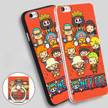 ONE PIECE Cute Luffy Joe Chopper Red  Holder Soft TPU Silicone Phone Case Cover for iPhone 5 SE 5S 6 6S 7 Plus