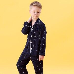 Image 5 - Kids Jongens Katoen Nachtkleding Baby Meisjes Herfst Winter Pyjama Sets Kinderen Cartoon Ondergoed Peuter Warme Slaapkamer Pyjama Pijamas