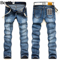 Beswlz Men Ripped Hole Jeans Pants Casual Fashion Slim Straight Denim Trousers Men Famous Brand Men Jeans 5007
